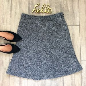 Ann Taylor A-Line Tweed Skirt Petite
